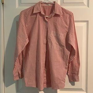 Tops - Red and white striped button down shirt